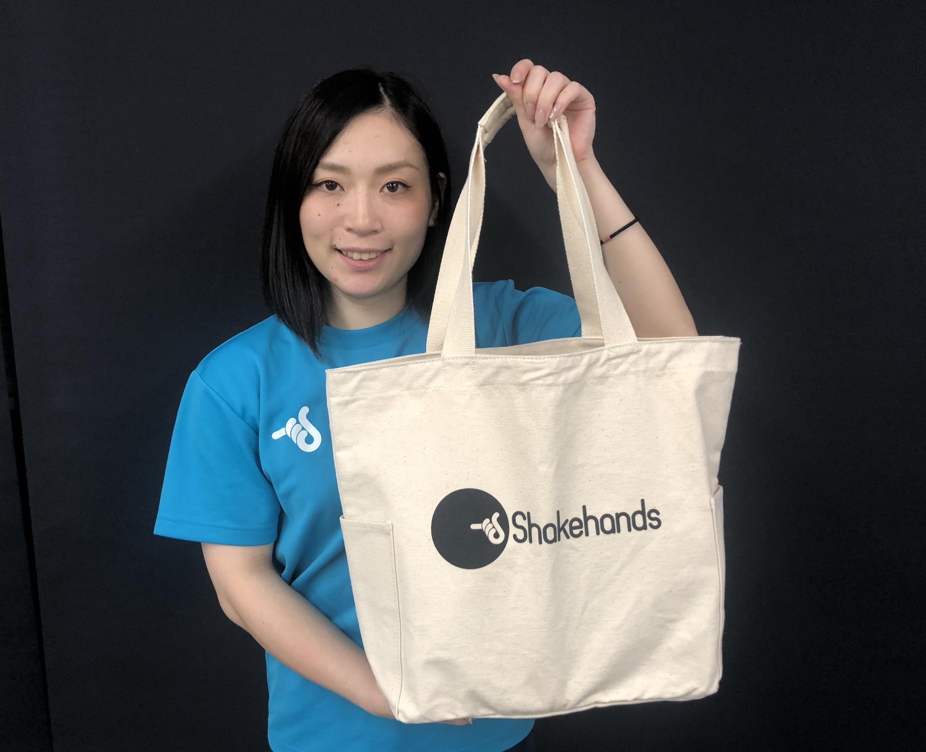 【数量限定!】シェークハンズトートバッグ発売!