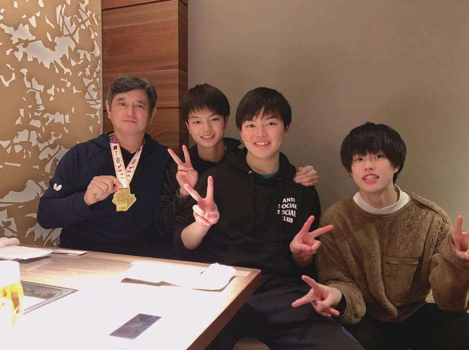 贅沢な焼肉屋さん、世界大会ジュニア・ミックスダブルス 宇田幸矢優勝祝勝会