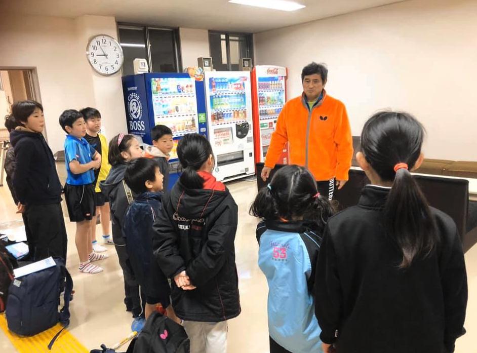 宇田幸矢の優勝で、会員の皆さんも練習に盛り上がりました