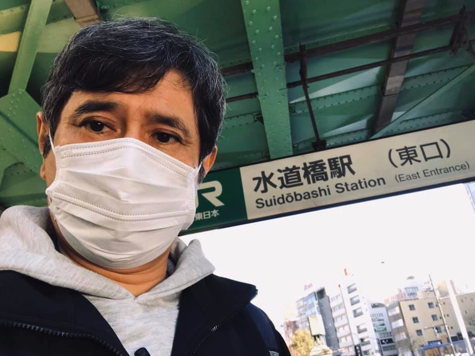 水道橋駅のシェークハンズまで『マスク』をして行きました