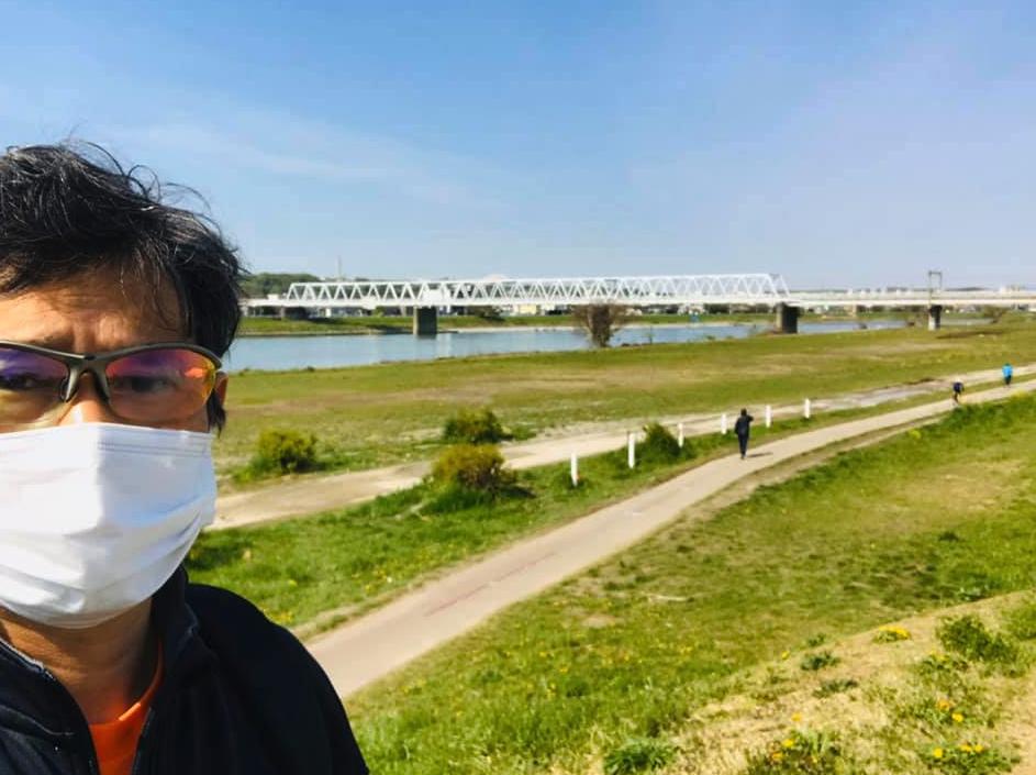 多摩川河川敷までサイクリング