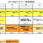 【ライブ番組表まとめ】5/3〜5/9のライブ番組表公開しました!