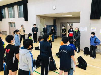 中学生は、卓球多摩地区大会があるので 活躍を期待