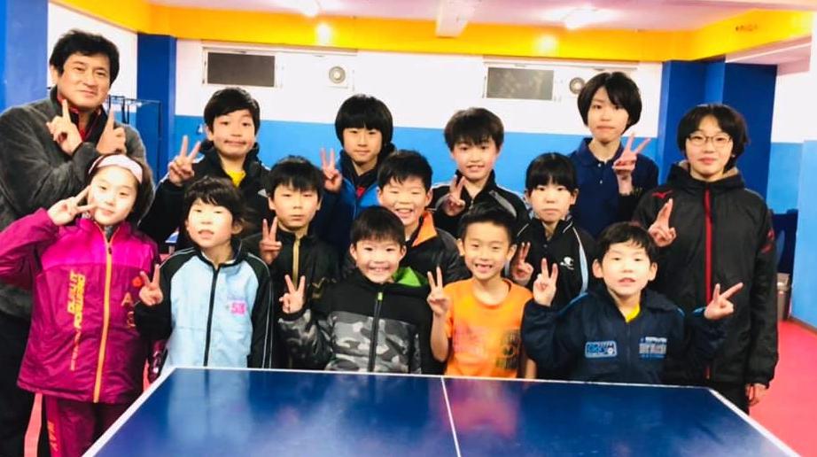 初詣からのジュニア卓球教室の初練習