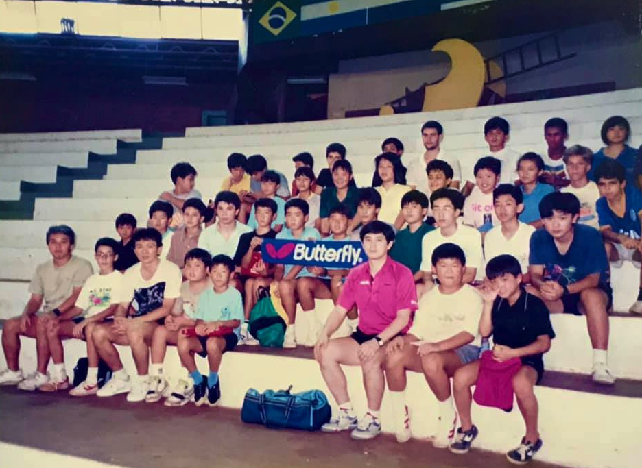 ブラジル全土から日系人の卓球仲間が2千人から3千人集まって卓球大会