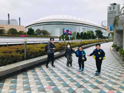 卓球練習後に、近くの東京ドームに行きました