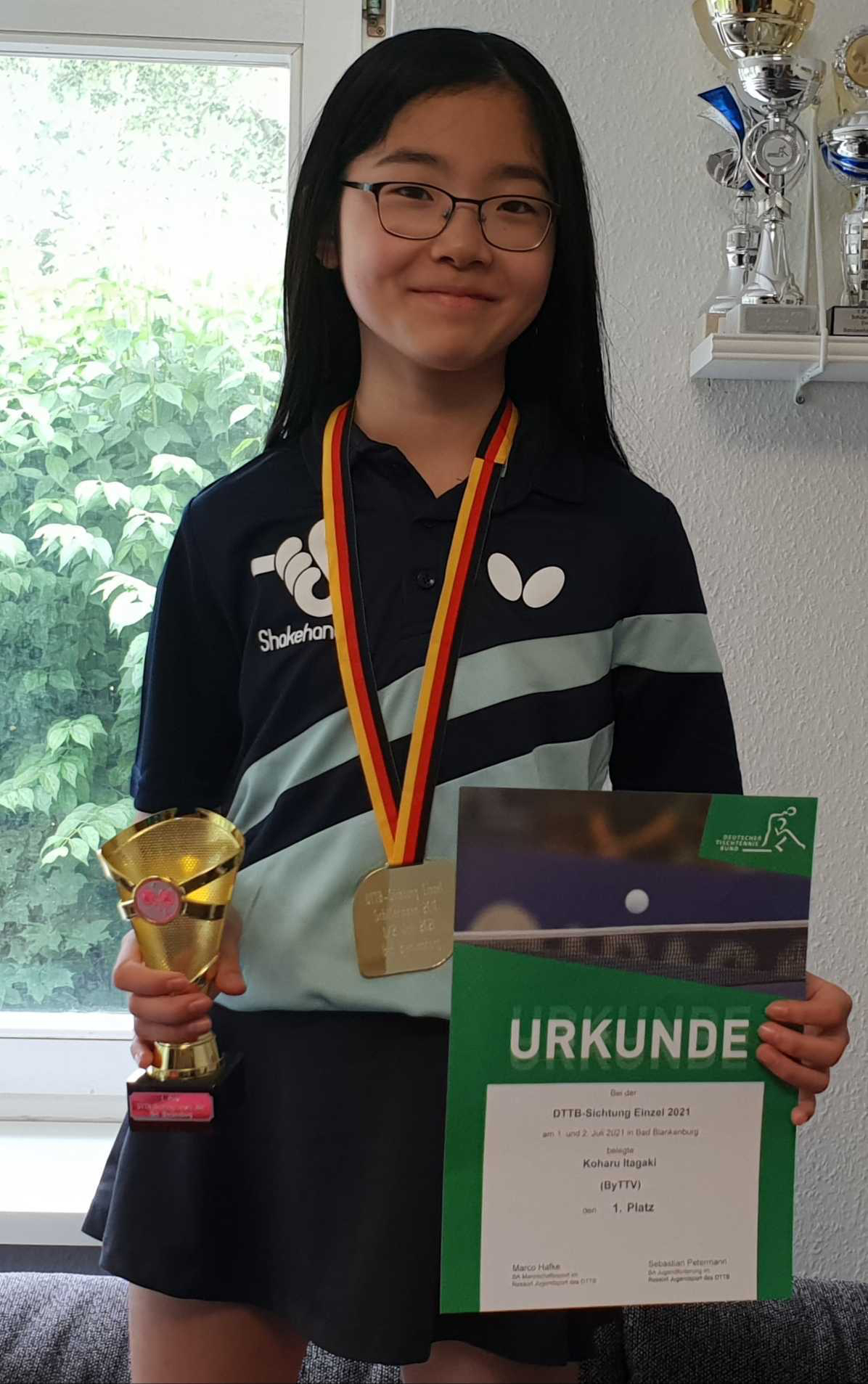 コハルが2度目の全ドイツチャンピオンに!タレントカップ(小学6年生の部)