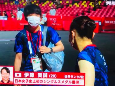 伊藤美誠選手 東京オリンピック 銅メダル 松崎太佑コーチ  今、飲んで話を聞きたい一番の卓球人・男です