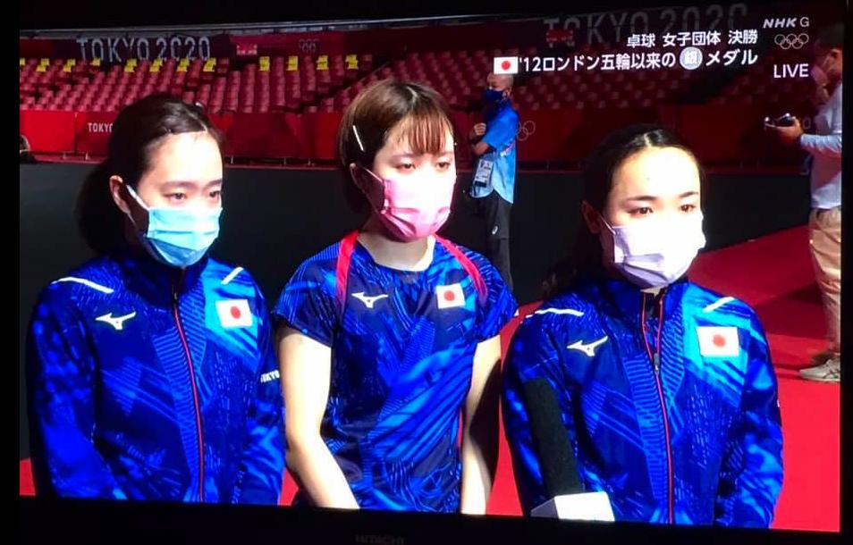 石川佳純選手、伊藤美誠選手、平野美宇選手 ありがとうございます
