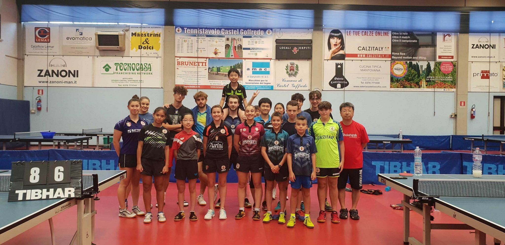ヨーロッパチャンピオンズ女子優勝の歴史のあるカステル・ゴフォレッドでの練習